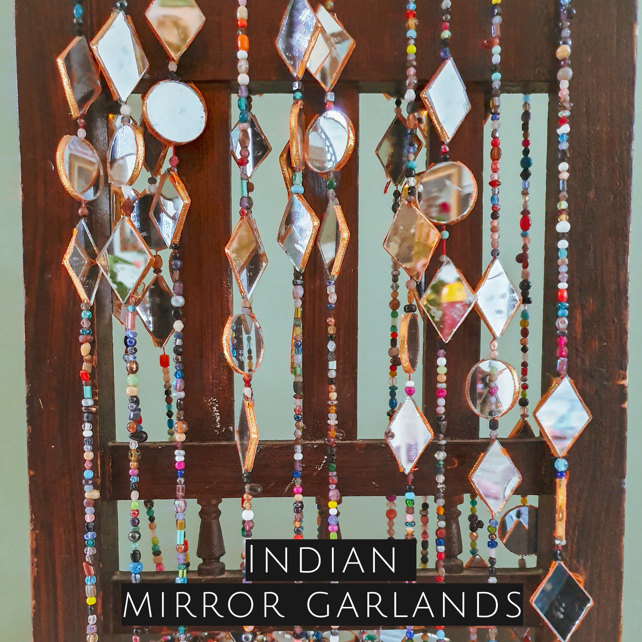 indian mirror garlands